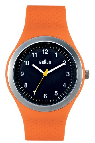 Braun - 66538 - Montre Mixte - Quartz - Analogique - Bracelet Silicone Orange