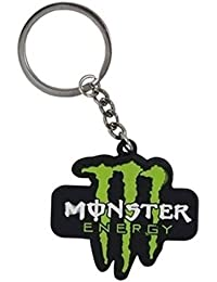 Sharddha Monster Energy Logo Synthetic / Rubber Keychain / Keyring / Key Ring / Key Chain (Green/Black/White)