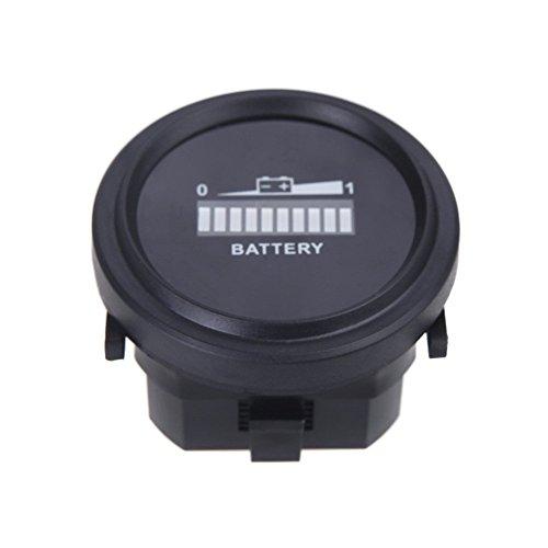 Indicador de bateria - SODIAL(R)Digital LED indicador de carga de estado de bateria Indicador de bateria 12V / 24V / 36V / 48V / 72V (Negro)