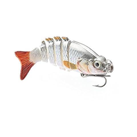 A-szcxtop 5cm 2,5g Multi jointé Leurres de pêche dur appâts réaliste 6segments Swimbait Bass Poissons-nateurs Perche Pike Doré Jaune truite Pêche appâts, type 3