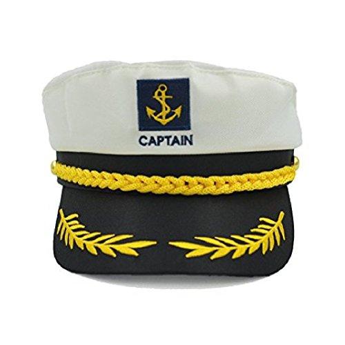 Unisex Skipper Cap Schiff Sailor Navy Yacht Militär Kapitän nautischen Hut Party Kostüm schwarz
