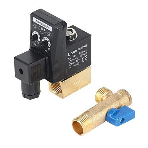 Mouchao Elektronischer zeitgesteuerter Luftkompressor-Gastank Automatisches 2-Wege-Ablassventil 1/2