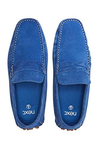 next Uomo Mocassini Saddle Scamosciati Blu