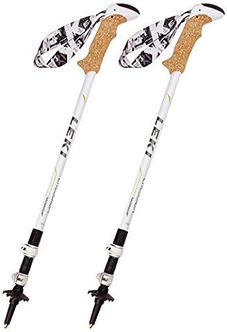 LEKI Damen Trekkingstock Cressida, white, 632-2119
