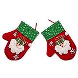 Amosfun 2 pezzi di regali di natale borsa portaposate adorabile sacchetti di caramelle albero di natale appeso ornamento per la festa a casa del festival