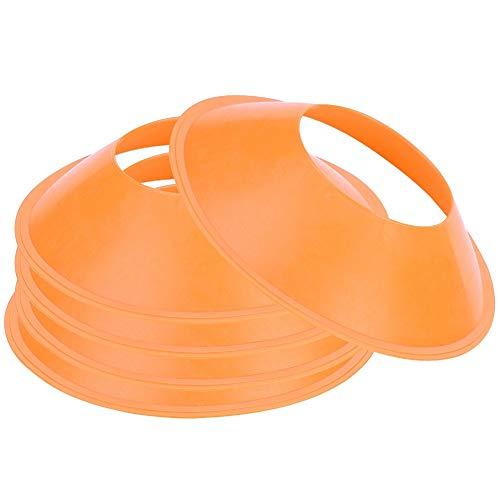 Alomejor 5pcs Fußballplatz Markierungs Gummi Dauerhaft Tragbar für Fußball Rugby Sport Geschwindigkeits Training(Orange) -