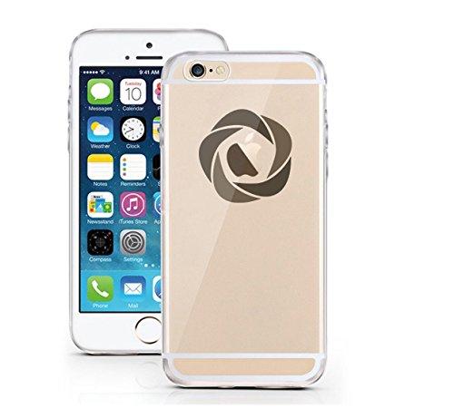 iPhone 6 6S Hülle aus TPU Planetenring minimalistisches Design Apple Logo Case schwarzes Motiv auf transparentem iPhone Case Saturn - licaso® (iPhone 6 6S, Umlaufbahn) Futuristic 1