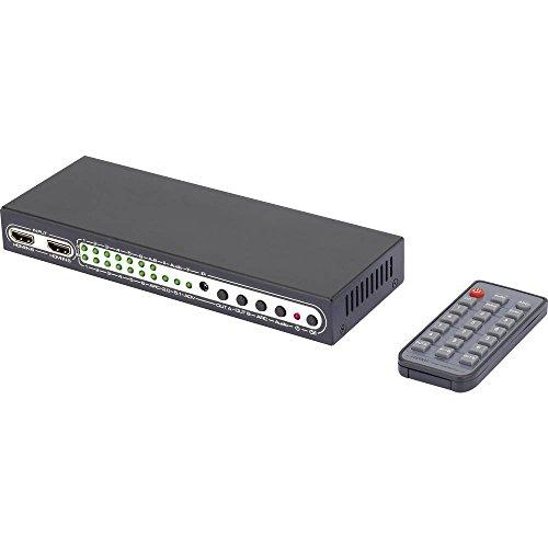 SpeaKa Professional 6 Port HDMI-Matrix-Switch mit Picture in Picture-Funktion, mit Fernbedienung 3840 x 2160 Pixel Professional 6 Hdmi-kabel