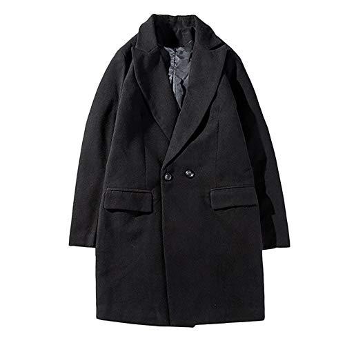 Herren Cardigan Coat,TWBB Winter Einfarbig Verdicken Mantel Warme Passen Mit Knopf Outwear Pullover Persönlichkeit Lange Ärmel Hemd