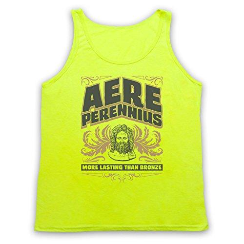 Aere Perennius More Lasting Than Bronze Tank-Top Weste Neon Gelb