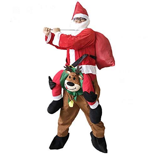 Männer Tragen Cosplay Mich Weihnachten Kostüm Weihnachten Maskottchen Hirsch Tier Schick Kleid Urlaub Garten Dekoration