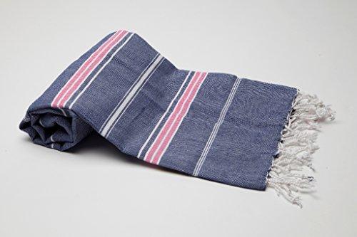"""Pestemal Hamamtuch Handtuch,Sultan Version marine-pink von \""""my Hamam\"""" Badetuch Saunatuch Handtuch Yogadecke, Turkish Hamam Towel"""