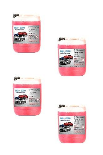 4x 5 L Nano Autoshampoo Carshampoo Konzentrat Glanzshampoo Autoglanz Abperleffekt