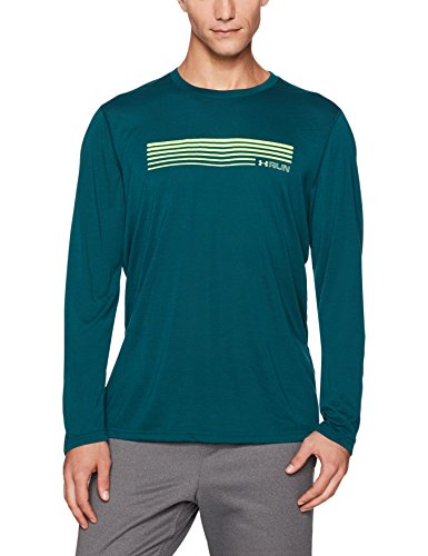 Under Armour Herren UA Run Graphic LS Langarmshirt, Arden Green, S (Gear Armour-jugend-cold Under)