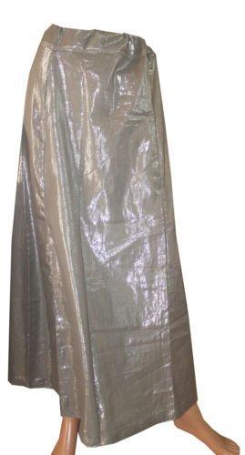 Silver Shimmer Indian Saree Petticoat Underskirt Belly Dancing Lehanga Slip