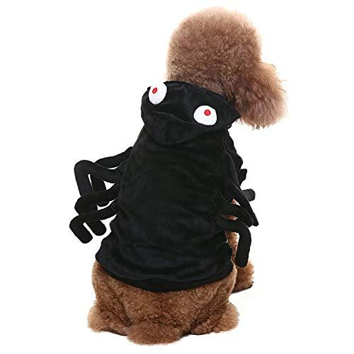 Coppthinktu Spider-Kostüm, Halloween-Spinnen-Design, mit Kapuze, - Spider Dog Kostüm