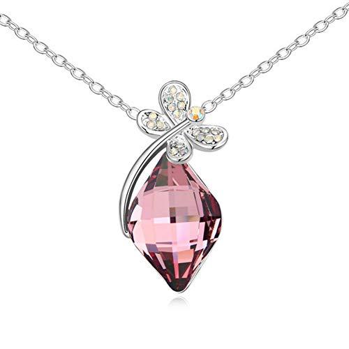 änger Kristall Halskette - Libelle Anhänger Ornament Schlüsselbein Kette Artikel ()
