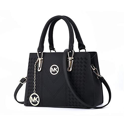 Allhqfashion donna luccichio cerniere borse di tela vacanze borse a tracolla, fbuibc181986, nero