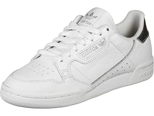 Adidas Sneakers Silber (adidas Originals Sneaker Continental 80 W EE8925 Weiß Silber, Schuhgröße:38 2/3)