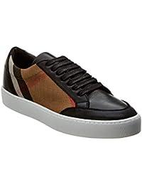 Burberry Scarpe Sneakers Donna in Pelle e Tessuto Modello 4040056 Check Nero 72b9fab3d76