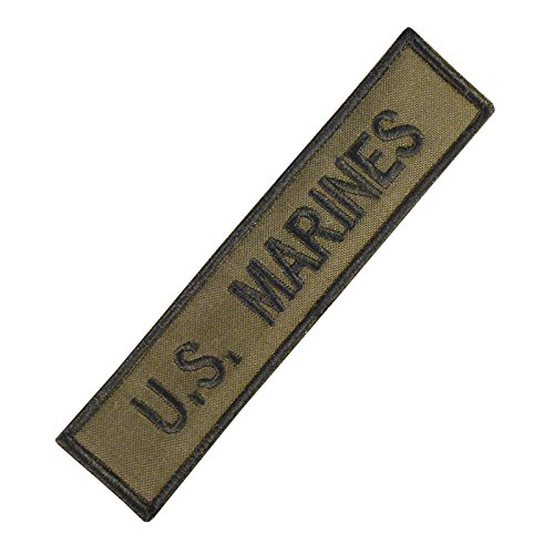 US Marines USMC Name Tape Olive Drab OD Green Stickerei Combat Touch Fastener Aufnäher Patch
