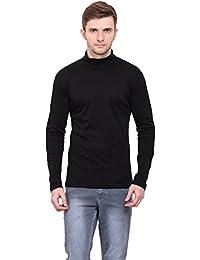 01e983d92e08 LE BOURGEOIS Black Color high Neck Full Sleeve Men's t-Shirt