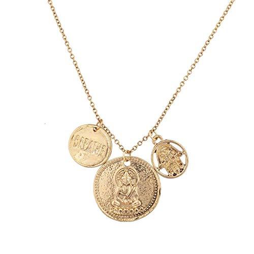 Lux Accessories hinduistische Goldmünzen-Halskette