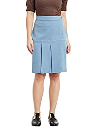 Rider Republic Women Solid Denim Pencil Skirt