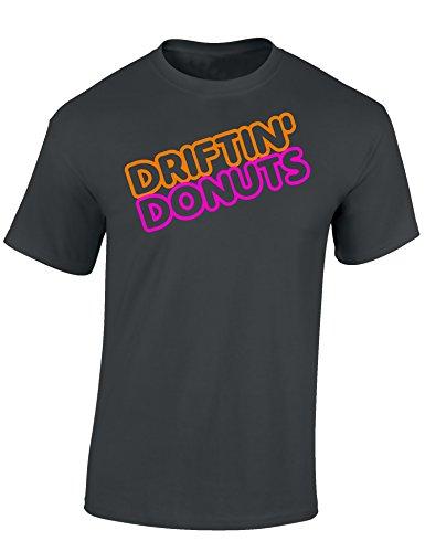 Petrolhead: Driftin' Donuts - Geschenk für Autoliebhaber - T-Shirt für alle Tuning-, Drift-, und Motorsport Fan - Auto T-Shirt Herren Shirt - Geschenk Auto - Auto-Fahrer (M)