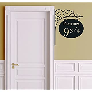 Amikim Platform 9 3/4 Harry Potter Door Nursery Wall Decor Sticker Decal Removable Vinyl Name Wall Art Decal