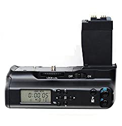 Neewer® Vertical Battery Grip With Lcd Screen Monitor Replacement Bg-e8 - Capacity To Hold 2pcs Lp-e8 Batteries Or 6pcs Aa Batteries For Canon Eos 550dt2i 600dt3i 650dt4i 700dt5i