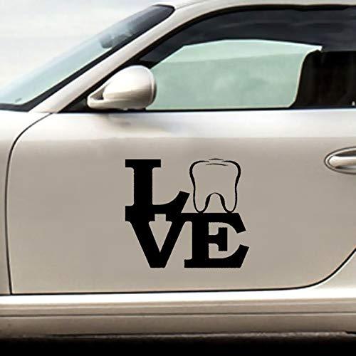 auto-aufkleber Liebes-Zahn-lustiger gemütlicher Kunst-Aufkleber-Zahnarzt-Zahnarzthelfer-behilfliches Bleichmittel für Auto-Laptop-Fenster-Aufkleber