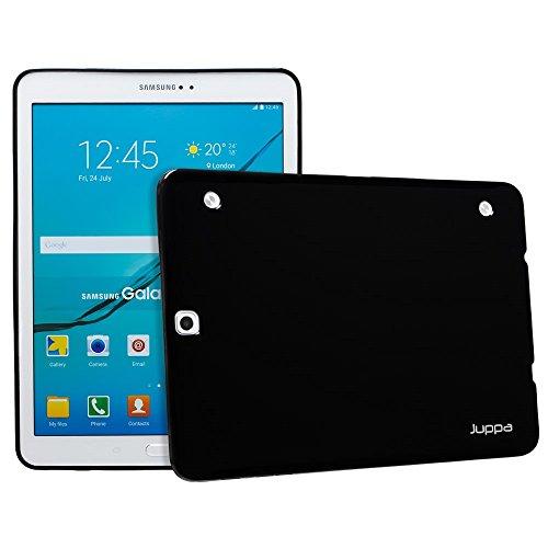 Lcd-samsung Galaxy S2 (Juppa® Samsung Galaxy Tab S2 9,7 Zoll SM-T810 T815 TPU Silikon Tasche Hülle Schutzhülle mit LCD displayschutzfolie und Mikro-Reinigungstuch - Schwarz / Black)