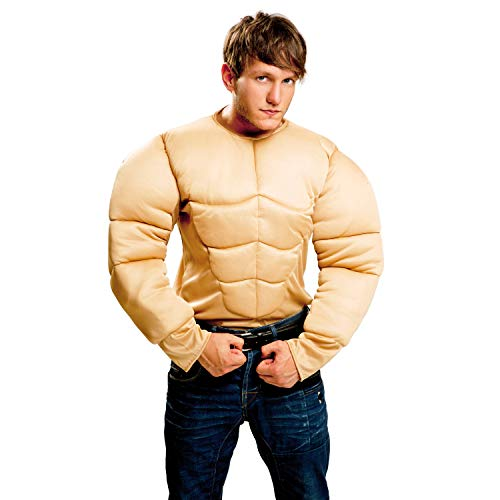 My Other Me Me-201356 Músculos Disfraz con camiseta musculosa para hombre M-L Viving Costumes 201356