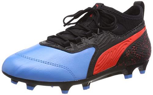 Puma Unisex-Kinder ONE 19.3 FG/AG Jr Fußballschuhe, Blau (Bleu Azur-Red Blast Black), 38 EU (Jungs Fußballschuh)