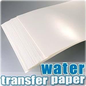 AMZ TPW Lot de 20feuilles de papier pour décalcomanie à l'eau Blanc Format A4