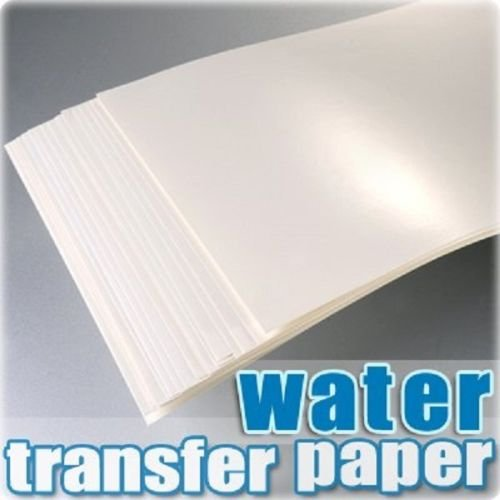 TPH A4 Inkjet Water Slide Decal Paper Craft Transfer x 20pcs Transparent. Test