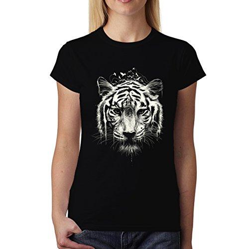 avocadoWEAR Tigre Giungla Tigre del Bengala Donna T-Shirt XS-3XL Nero