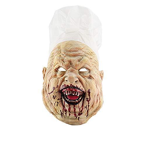 Kentop Horror Metzger Masken Halloween Monster Maske Kostüm Zubehör für Cosplay Karneval Verkleidung Fasching (Metzger Halloween Dead)