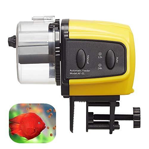 MC.PIG Futterautomat Aquarium Aquarium Tank Auto Fish Food Timer Kapazität einstellbar für Geschäftsreisen/Reisen/Dringende Geschäfte