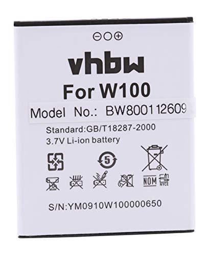 vhbw Li-Ion batería 1800mAh (3.7V) para teléfono móvil Smartphone THL T1, W100, W100s por W100.
