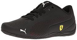 PUMA Mens SF Drift Cat 5 Ultra Walking Shoe, Puma Black-Rosso Corsa-Puma Black, 4. 5 M US
