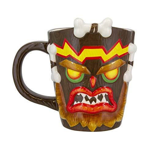 Paladone Uka Uka Crash Bandicoot geformte Tasse | Neuheit übergroßen Kaffee Tee Keramik Tasse | Einzigartige und super lustige Art, Dein Lieblingsgetränk zu Trinken