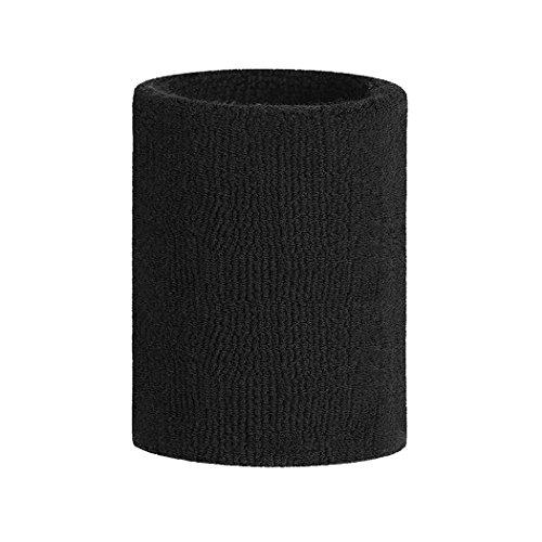 HOTER Sport Solid Color Dick Arm Schweißband, 10,2cm breites Armband, Preis/Stück, Black(1Piece) (Gestrickt Color Solid)