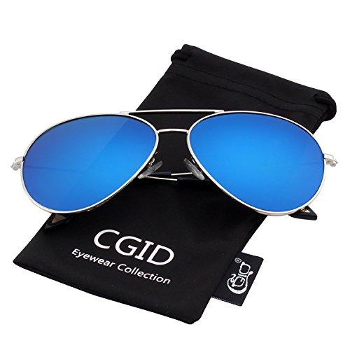 Herren-matrix Wasser (CGID Mode Flieger Metallrahmen Verspiegelt Linse Piloten Pilot Polarisierte Sonnenbrille Pilotenbrille Für Damen UV400 Schutz CG809)