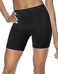 Compression Skin Half Tights / Anti Abrasion Running Hiking base layer under shorts Plain Black (M (30