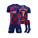 GNMM Trikot Fu?Ball Barcelona Trikot Coutinho 7# Trikot Erwachsene Kinder Anzug Kurzarm + Shorts + Socken Fu?Ball Uniform