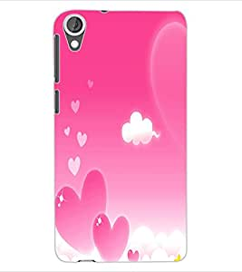 ColourCraft Love Pattern Design Back Case Cover for HTC DESIRE 820
