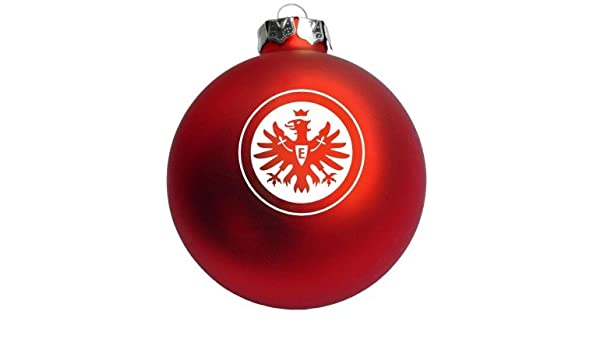 Eintracht Frankfurt Christbaumkugeln.4er Set Weihnachtskugeln Eintracht Frankfurt Amazon De Sport