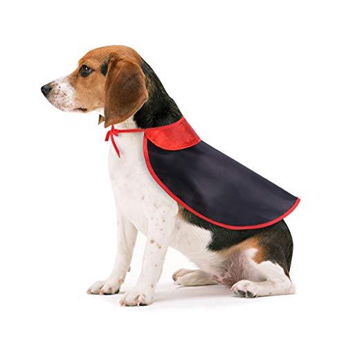 Smniao Halloween Hundebekleidung für Kleine Hunde Cosplay Hexe Mantel Sweatshirt Weste für Katzen Haustier Puppy Kleidung Hund Shirt (L, Schwarz)